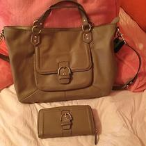 Coach F24961 Campbell Belle Tan/camel Leather Shoulder Bag With Matching Wallet Photo