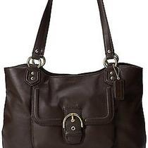 Coach F24961 Campbell Women's Handbag Leather Purse Carryall Mahogany Brown Photo