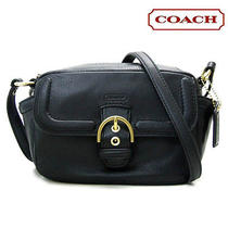 Coach F25150 Campbell Black Leather Crossbody Shoulder Camera Bag  Photo