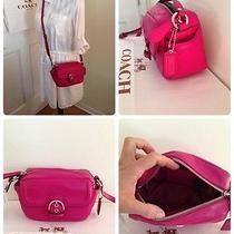 Coach  F25150 Campbell Leather Camera Bag Fuchsia Pink Photo
