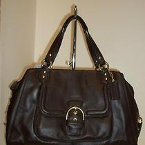 Coach F25151 Mahogany Leather Large Campbell Convertible Satchel Handbag Photo
