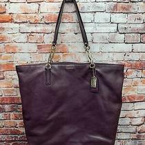 Coach F26225 Madison Leather North South Tote Purple Photo