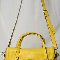 Coach F27231 Yellow Leather Campbell Flap Tote Satchel Shoulder Bag W/wallet Xf Photo