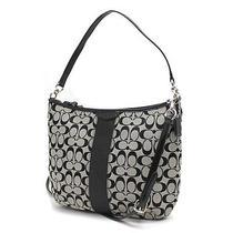 Coach F29941 Beautiful Signature Stripe Handbag Convertible Photo