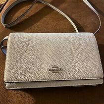 Coach F30256 Foldover Clutch Pebbled Leather Crossbody Women's Bag Photo