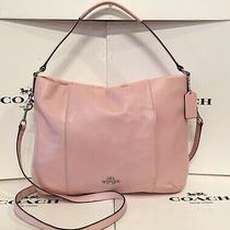 Coach F35809 Pink Pebbled Leather East West Isabelle Convertible Shoulder Bag Photo