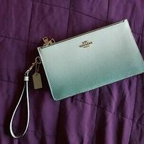 Coach F39961crosby Clutch With Ombre Green/imitation Gold Photo