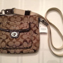 Coach F45026 Signature Pocket Swingpack Khaki/mahogany Photo