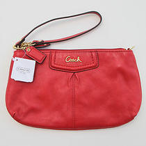 Coach F48103 Ashley Leather Large Cherry Wristlet Clutch New With Tag Photo