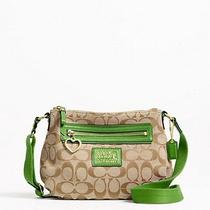 Coach F48755 Daisy Signature Crossbody Swingpack Bag Purse Green Grass  Photo