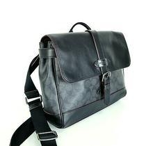 Coach F50051 Men's Hudson Small Messenger Bag in Signature Canvas Black/oxblood Photo