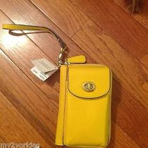 Coach F50070 Campbell Leather Universal Zip Around Wristlet/ Iphone Case Nwt Photo