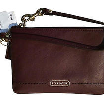Coach F50078 Coach Campbell Leather Small Wristlet Mahogany - New With Tags Photo
