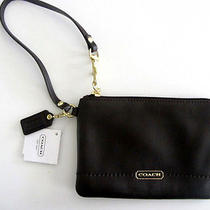 Coach F50078 (Mahogany) Campbell Leather Small Wristlet  100% Authentic Photo