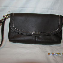 Coach F50183 Campbell Leather Large Wristlet-Mahogany Brown Leather..new Photo
