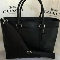 Coach F54758 Mens Perry Large Business Tote Smooth Leather Black Nwt Photo