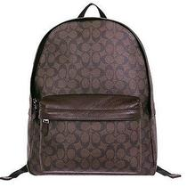 Coach F55398 Men's Carles Backpack in Signature Mahogany/brown Nwt Photo