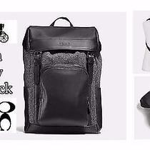 Coach F55405 Henry Backpack in Wool & Leather - Grey/black Photo