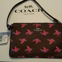 Coach F56710 Wristlet Wallet in Happy Bird Print Nwt New Hot Item - Multi Color  Photo