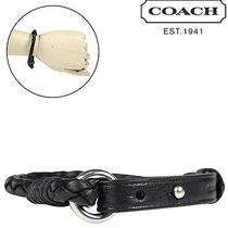 Coach F62709 Leather Men's Bracelet Black Nwt Photo