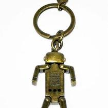 Coach F66096 Antique Brass Robot Key Ring Fob Nwot Photo