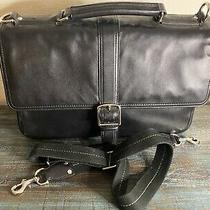 Coach F70096 Black Leather Briefcase Laptop Business Crossbody Bag Strap Connor  Photo