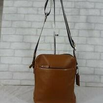 Coach F70813 Brown Leather Heritage Flight Crossbody Messenger Bag Mens Tote Photo