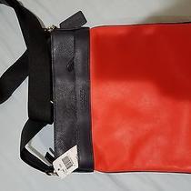 Coach F71842 Men's Bowery Crossbody Leather Bag Orange/black Photo