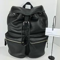 Coach F72305 Smith Rucksack Backpack Carry on Leather Black Nwt Photo