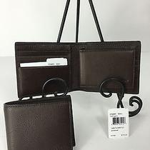 Coach F74991 Compact Id Sport Wallet Men's Calf Leather Mahogany Nwt Photo