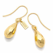 Coach Faceted Teardrop Earring Style F96636 Gd/gold Photo