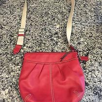 Coach Factory Red Leather Crossbody Photo