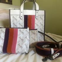 Coach Field Tote With Varsity Stripe and Bonus Matching Charlie Pouch Photo