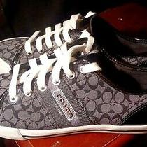 Coach..fillmore..black..signature..sneakers..women Sz 6.5 Photo