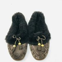 Coach Fiona Shearling Leather Moccasins Slippers Shoes Womens 5.5  Tassel Photo