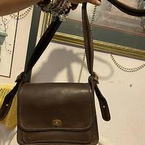 Coach Flap Messenger Thick Distressed Leahter Cell Phone Case Shoulder Bag  Photo