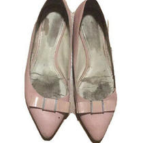 Coach Flats Blush Pink Pointed Toe Warwick Ballet Flats With Bow Size 8 Rose Photo