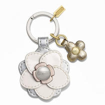 Coach Floral Applique Key Ring Style F64298 Sv/multicolor Photo