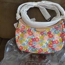 Coach  Floral Print Crossbody Bag Handbag Purse Photo
