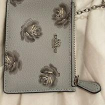 Coach Flower Toule Keychain Wallet Photo