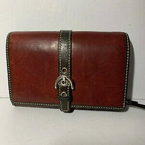 Coach Folding Leather Wallet Burgandy and Brown Vgc Photo