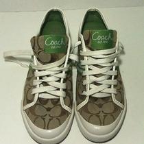 Coach Folly Signature Jacquard White/green Women's Sneaker Size 7 1/2b Photo