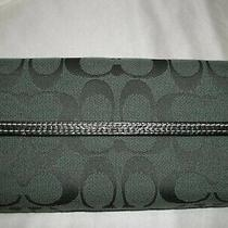 Coach Forest Green Turn-Lock Wallet F43609 Signature Photo