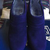 Coach & Four Gorgeous Purple Suede Elizabeth Ankle Bootie Size 7 Reduced Price Photo