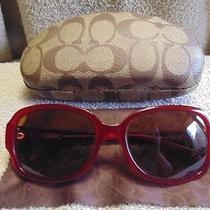Coach Framed Glasses 58 17 135 Burgundy Hc 8015 Lo19 Allie Photo