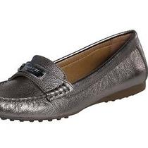 Coach Fredrica Loafer Flats Gray (Pewter) Size 6.5 Photo