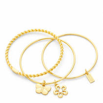 Coach Frozen Rope Bracelet Set Style F94057 Gd/gold Photo