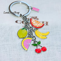 Coach Fruit Mix Key Chain Ring Fob Cherry Lime Orange Banana Grapefruit Summer   Photo