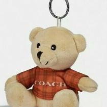 Coach Furry Teddy Bear Keychain Bag Charm Plush 3968g Photo