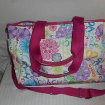 Coach Gabby F14879 Tote Weekender Diaper Bag Signature Jacquard Photo